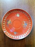 Zsolnay tálka arany és platina pillangó és virágdekorációval 1927-28