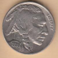 USA 5 Cent Indián.bölény 1936