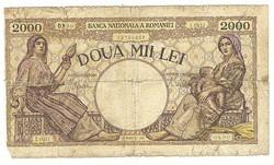 2000 lei 1941 Románia 2.