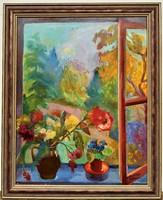 Molnár Róza (1900 - 1977) Csendélet c. Képcsarnokos festménye 90x70cm EREDETI GARANCIÁVAL !!