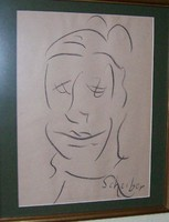 Scheiber  rajz 25x35 cm kerettel  ÁRZUHANÁS
