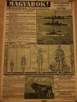 1942 körüli plakát Nemzetpolitikai Szolgálat kiadványáról