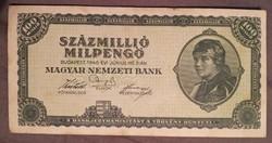 Szép Százmillió Milpengő 1946. bankjegy