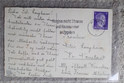 Német háborús levelezőlap /Adolf Hitler /