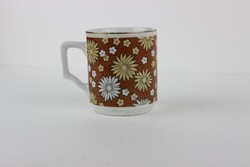 Retro virágos kínai porcelán bögre GP3002/3