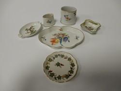6 db-os Herendi porcelán apróságok