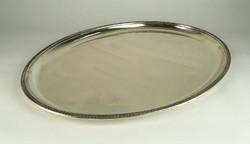 0W024 Régi ezüst tálca pecsenyés tál 1265g
