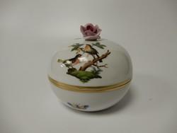 Herendi porcelán rózsás bonbonier