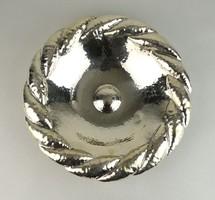 0W033 Régi kalapált ezüst gyümölcskínáló tál 690g