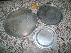 Retro alumínium tálca - három darab