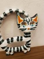 Retro kerámia cica - iparművész