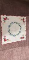 Kalocsai mintás, kézzel hímzett terítő 44 x 44 cm
