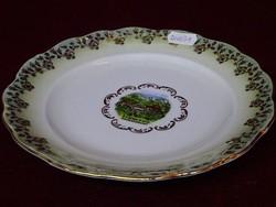 EIGL minőségi  porcelán Ausztria, süteményes tányér, 19,5 cm átmérővel.