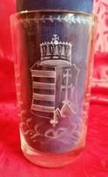Antik pohár Magyar címerrel! Ritka, nagy méret!