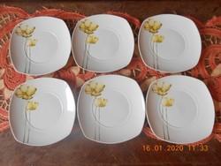 Porcelán süteményes tányérok 6 db