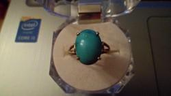 Arany gyűrű / türkiz