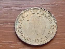 JUGOSZLÁVIA 10 PARA 1978