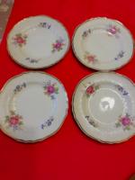 4 db Hollóházi porcelán süteményes kis tányér 18cm