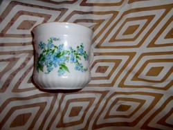Antik nefelejcs mintás porcelán  bögre