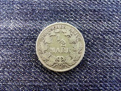 Németország Második Birodalom (1871-1918) .900 ezüst 1/2 Márka 1907 A / id 14041/