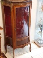 XV. Lajos stil aranyozott bronz díszítésű vitrin eredeti állapotban !!!
