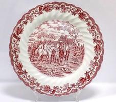 Angol porcelán lapostányér (ZAL-BI38573)