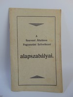 Szarvasi Általános Fogyasztási Szövetkezet alapszabályai 1927