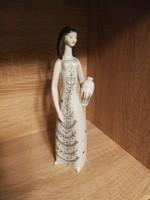 Hollóházi porcelán art deco korsós nő!