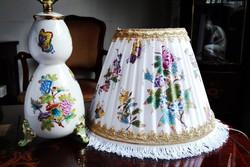 Különleges Herendi QueenVictoria barokk lámpa új ernyővel