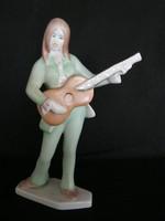 Aquincumi porcelán retro gitáros lány