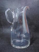 Régi bordázott üveg kancsó