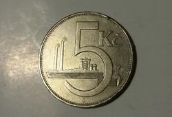 Csehszlovákia 5 Korona 1938.