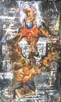 Rádóczy Gyarmathy Gábor - A bölcs 1302 x 79 cm olaj, vászon