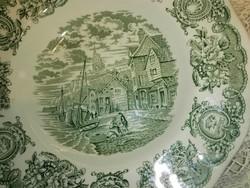Angol,jelenetes újszerű porcelán mély tányér.