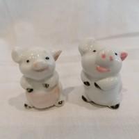 Porcelán malac pár , miniatűr