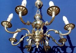 Aranyozott bronz csillár!