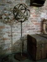 Fém dekorációs gömb álló lámpa, gyertyatartó loft, industrial, dekor
