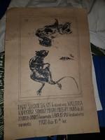 Papp Sándor Balázs kiállítási meghívó plakátja, kb.40x70 cm