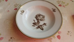 Kahla  porcelán, fekete rózsás tányér eladó!