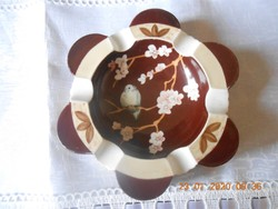 Herendi különleges barna alapú porcelán hamutartó