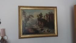 Ismeretlen osztrák festő tájképe eladó