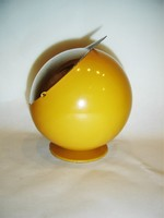Retro fém design gömb hamutartó 60-as évek.