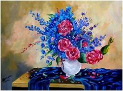 Sztopka Anna--TAVASZI CSOKOR--olajfestmény kasírozott vásznon