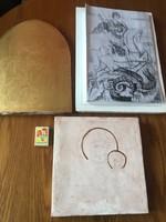 3 darab fa ikon alap - dekorációs alap - művész alapja