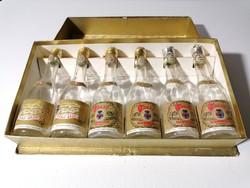 Tokaji boros üvegek díszdobozban 1969-1971 (248)