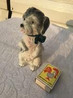 Porcelán  kutya állat szobor - Nagyon édes