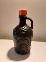Retro szörpös flakon 1970 körül Erdei Termék Vállalat műanyag fekete palack
