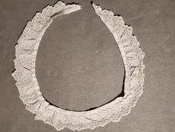 Antik hímzett csipkegallér ruhára 1.