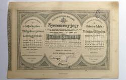 Nyeremény-jegy 1901-ből