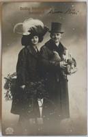 Karácsonyi képeslap, fotó-üdvözlőlap, 1913